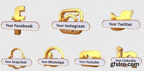 3D Social Media Lower Thirds - After Effects 92920