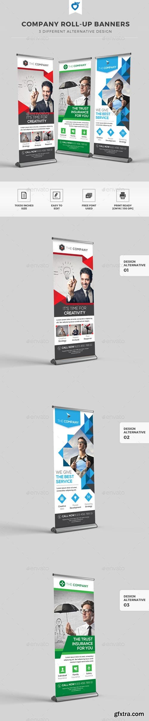 GraphicRiver - Company Roll-up Banners - 11765971
