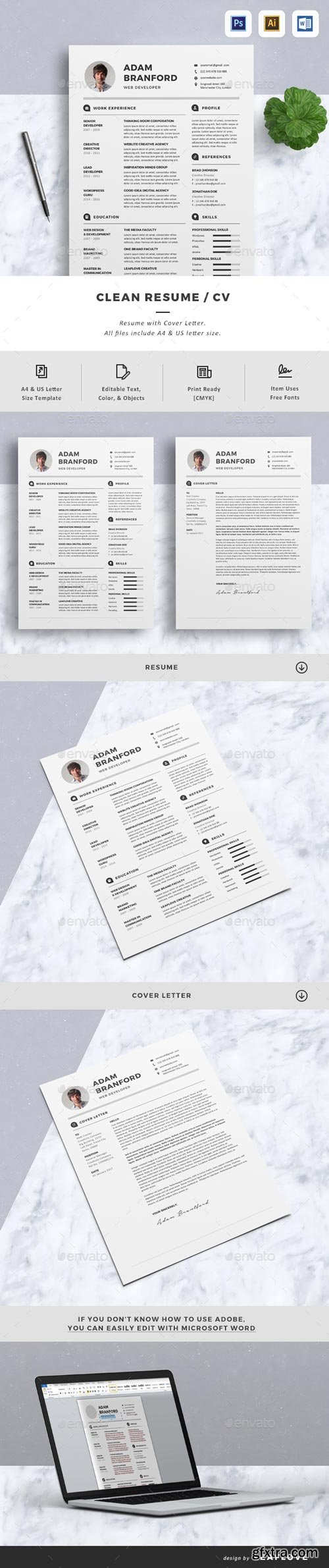 GraphicRiver - CV - 19031606