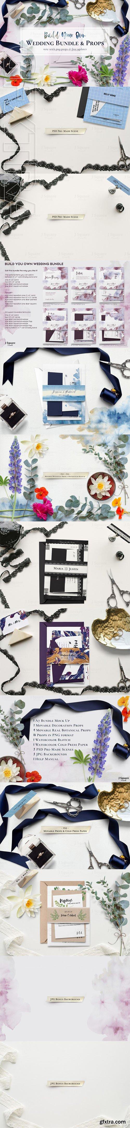 Build Your Own A7 Wedding Bundle Mock Up & Props