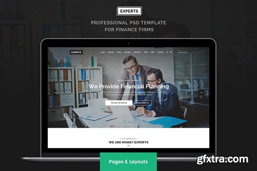Experts Pages layouts PSD Template