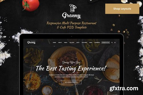 Granny Shop & Ecommerce PSD Template