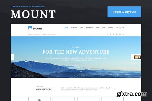 Mount Pages & Layouts PSD Template