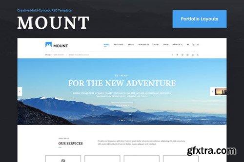 Mount Portfolio & Showcase PSD Template