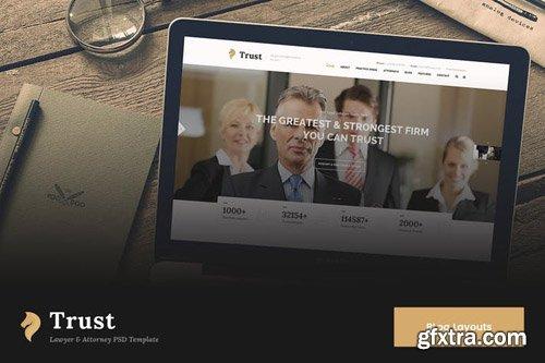 Trust Blog & News PSD Template