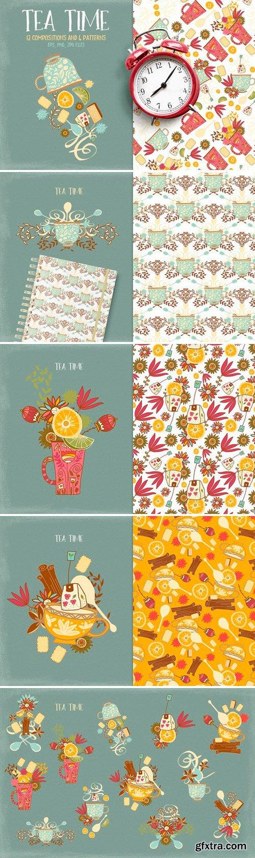 CM - Tea Time Illustrations 1078980