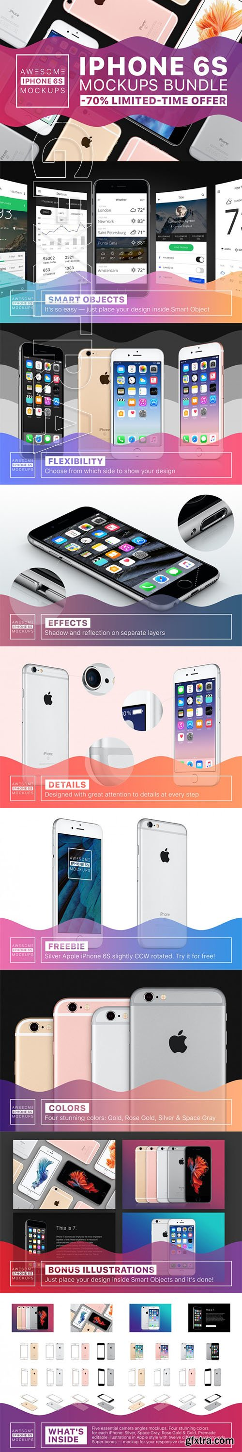 Awesome iPhone 6S Mockups