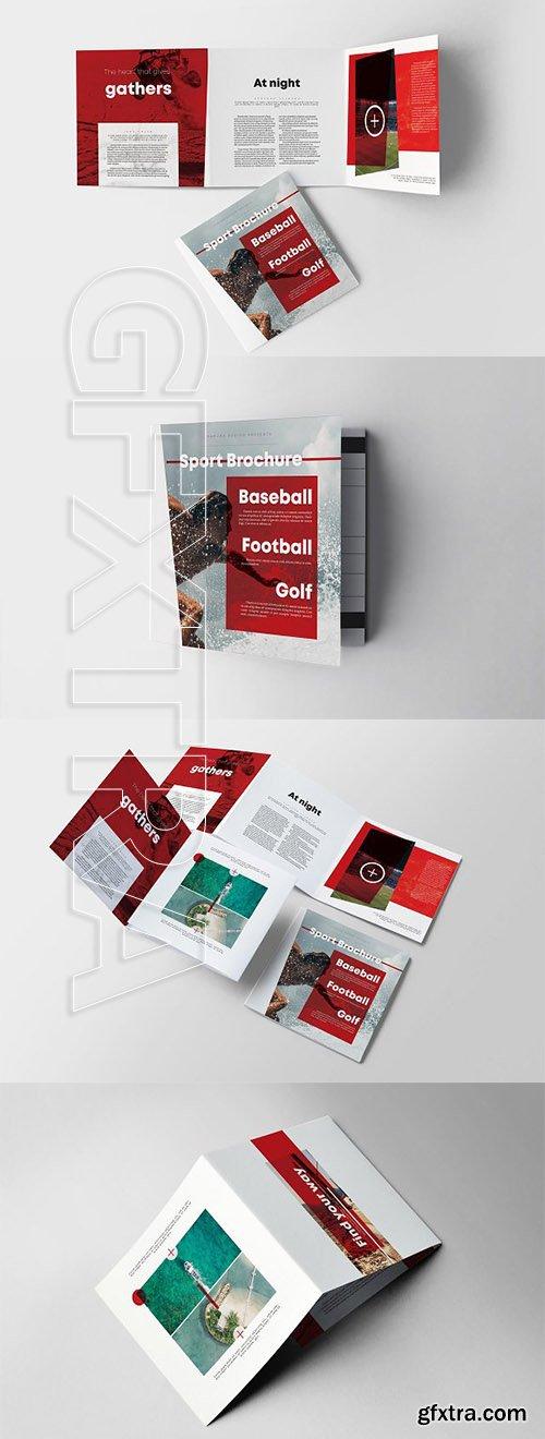 CreativeMarket - Sport Square Trifold Brochure 2660122