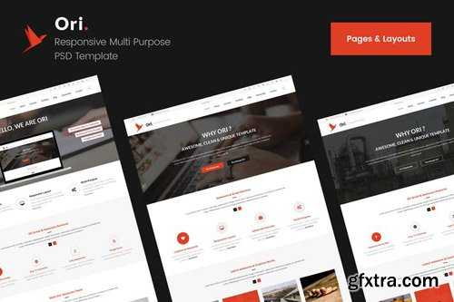 Ori Pages & Layouts PSD Template