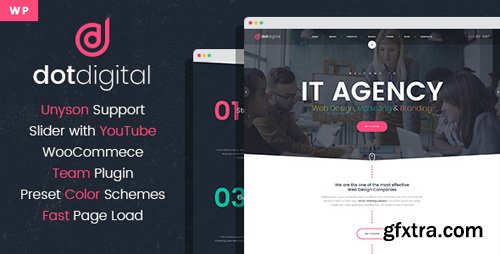 ThemeForest - DotDigital v1.0 - Web Design Agency WordPress Theme - 21962731