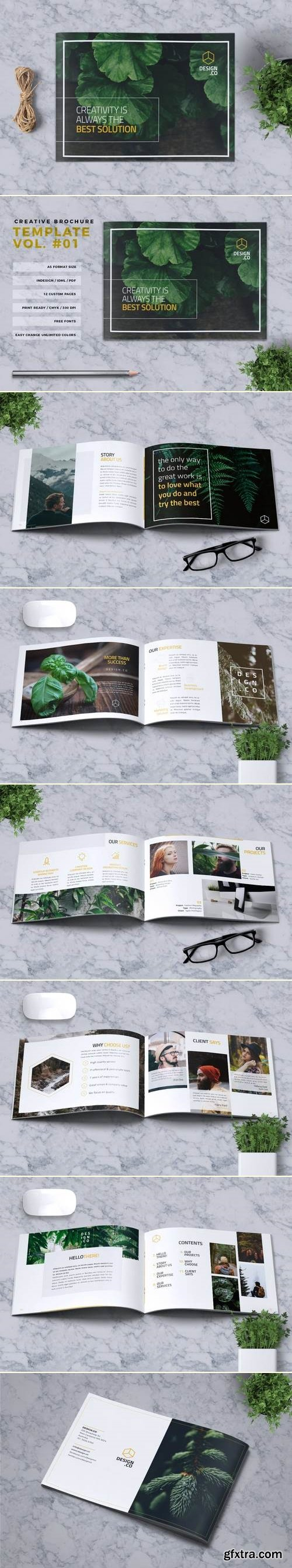 Creative Brochure Template A5 Vol. 01