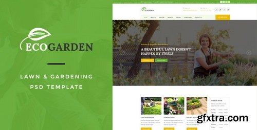ThemeForest - Eco Garden : Lawn & Gardening PSD Template - 15624190