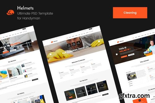 Helmets Cleaning PSD Template for Handyman