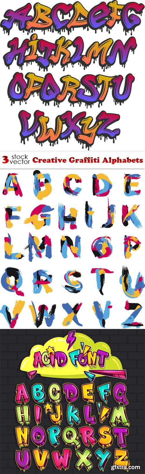 Vectors - Creative Graffiti Alphabets