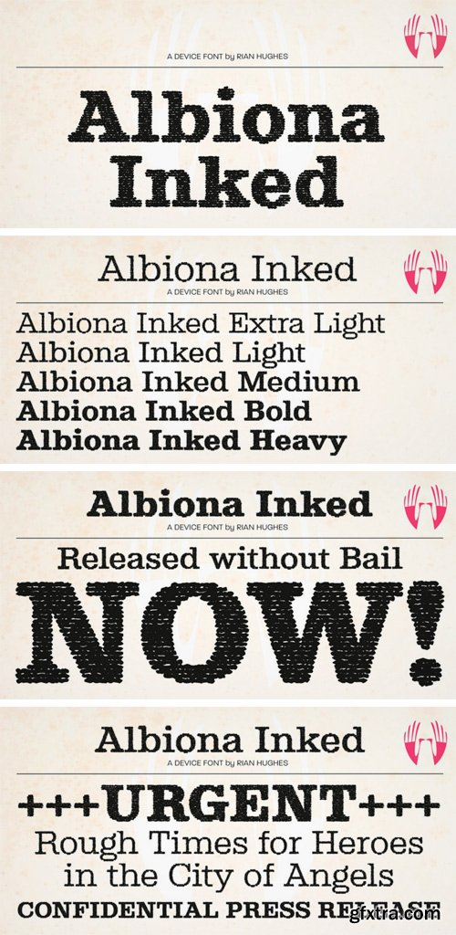 Albiona Inked Font Family