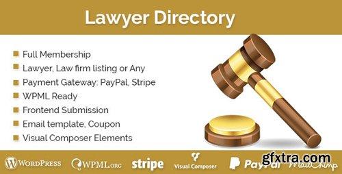 CodeCanyon - Lawyer Directory v1.2.0 - WordPress Plugin - 19452000