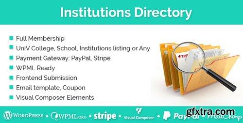 CodeCanyon - Institutions Directory v1.1.8 - WordPress Plugin - 19404510