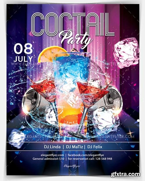 Coctail Party V19 2018 Flyer PSD Template