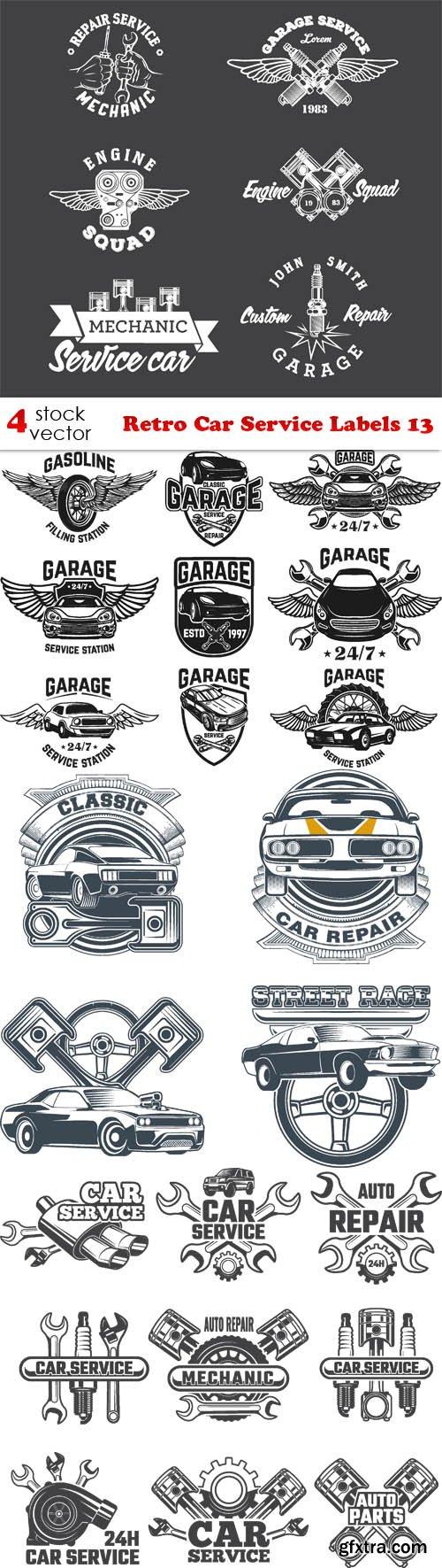 Vectors - Retro Car Service Labels 13