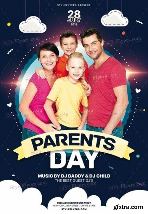 Parents Day V9 2018 PSD Flyer Template