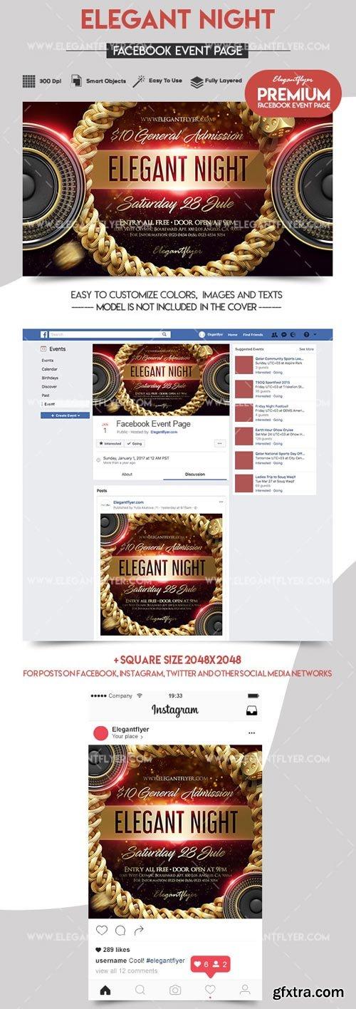 Elegant Night V1 2018 Facebook Event + Instagram template