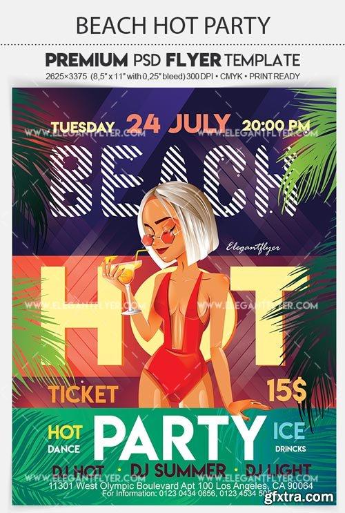 Beach Hot Party V31 2018 Flyer PSD Template