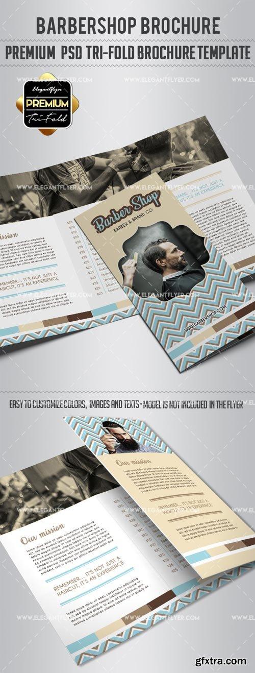 Barber Shop V5 2018 Tri-Fold Brochure PSD Template