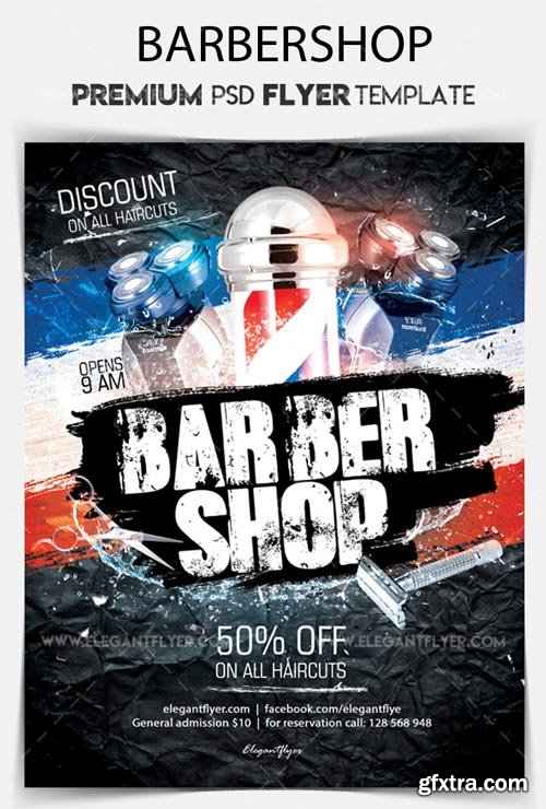 Barbershop V11 2018 Flyer PSD Template