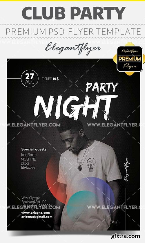 Club Party V17 2018 Flyer PSD Template + Facebook Cover