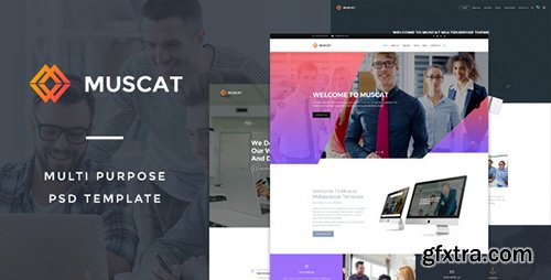ThemeForest - Muscat : Multi-Color Multipurpose PSD Template 14512336