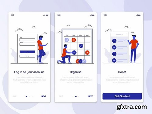 15 Onboarding Screens templates for App