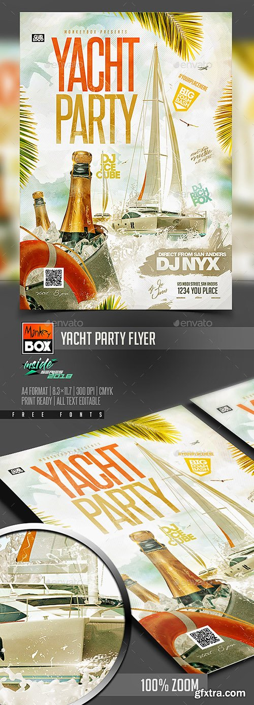 Yacht Party Flyer 22219770