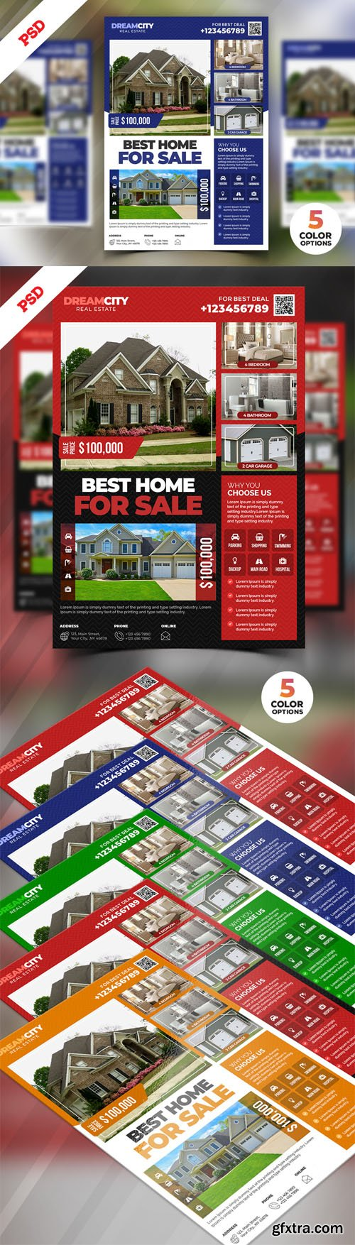 Real Estate Flyer Design PSD Templates