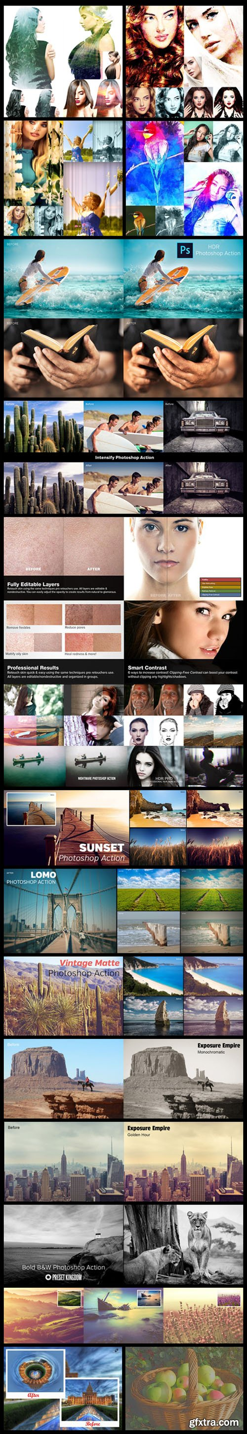 Top 160 Time-Saving Photoshop Actions & Lightroom Presets