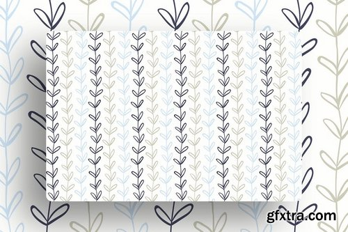 Branches Leaves Tileable Backgrounds