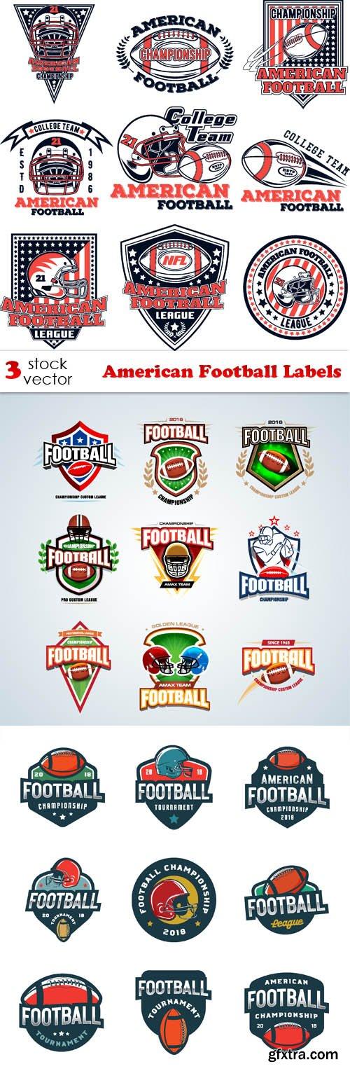 Vectors - American Football Labels