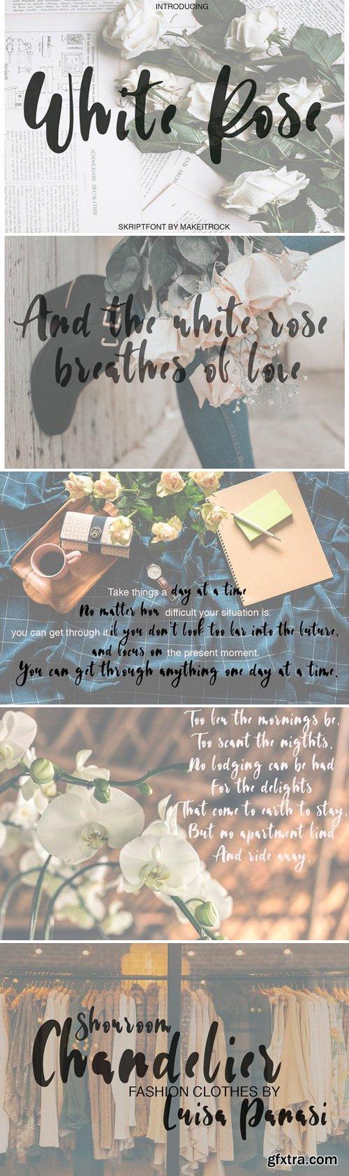 CM - White Rose Lovely Script Font 2545203
