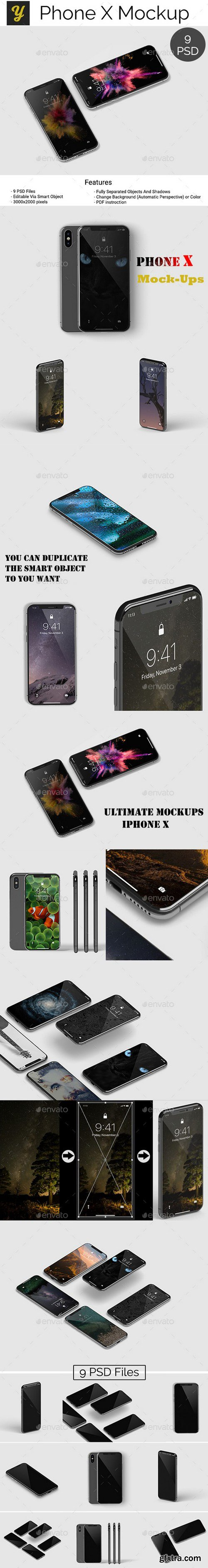 Graphicriver - 22061993 iPhone X Mockup