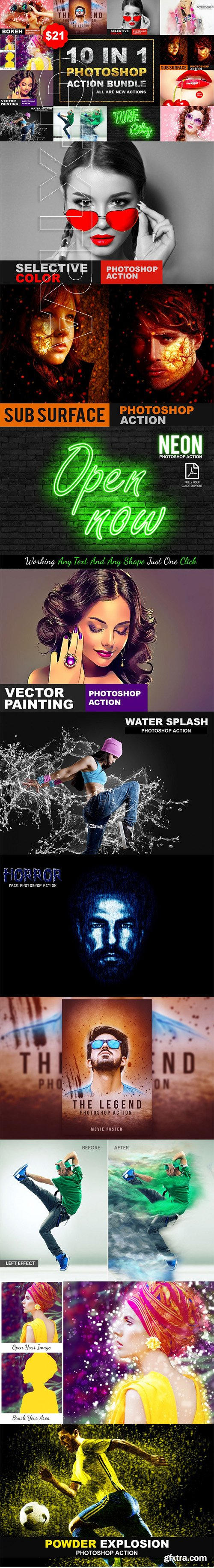 10 In 1 Photoshop Action Bundle V-1