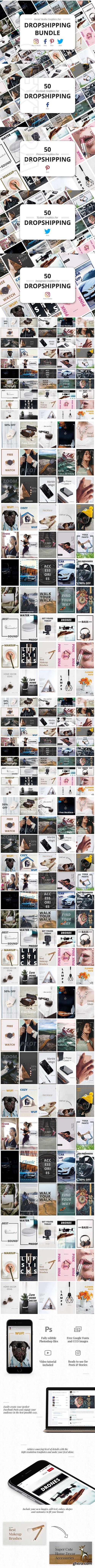 CreativeMarket - Dropshipping Graphics Bundle 2735898