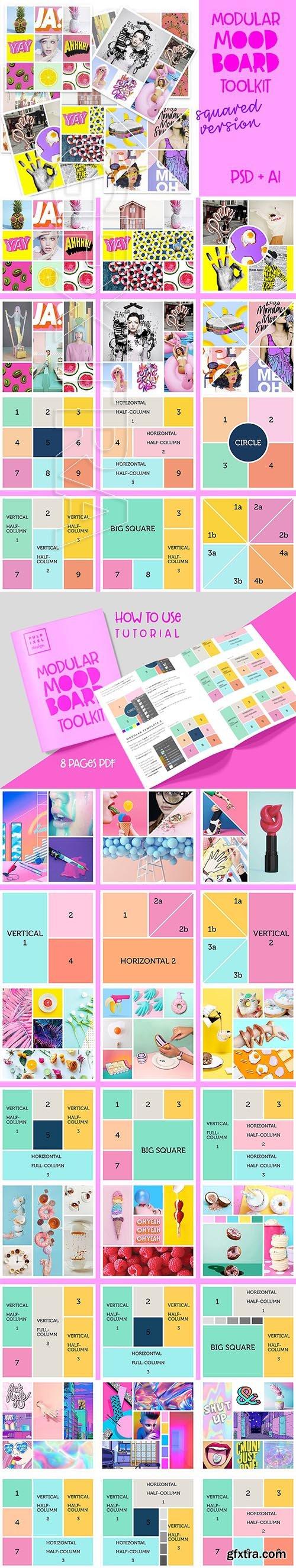 CreativeMarket - Modular Mood Board Toolkit 2737010