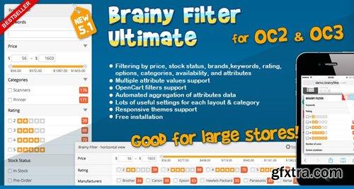 Brainy Filter Ultimate for OC2 v5.1.2 - OpenCart Module