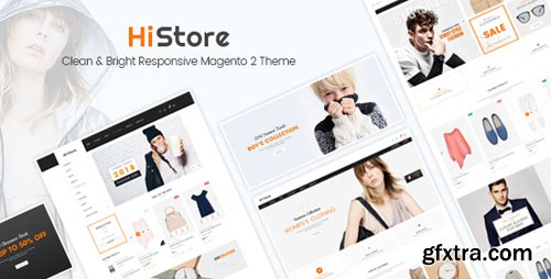 ThemeForest - HiStore v1.3.0 - Clean and Bright Responsive Magento 2 Theme - 20456324