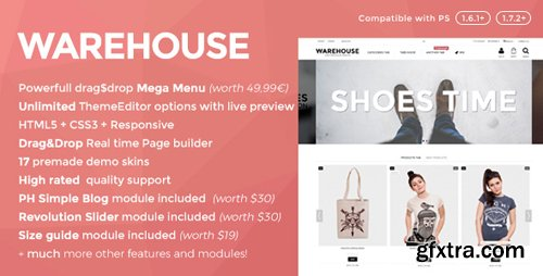 ThemeForest - Warehouse v4.1.7 - Responsive Prestashop 1.6 & 1.7 theme - 3178575