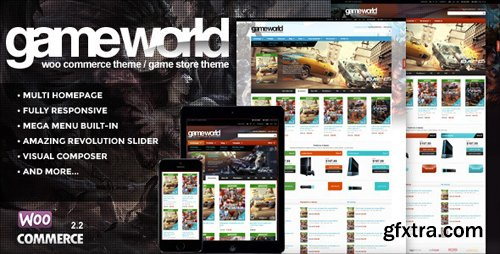 ThemeForest - WooCommerce Game Theme - GameWorld v2.0 - 9278334