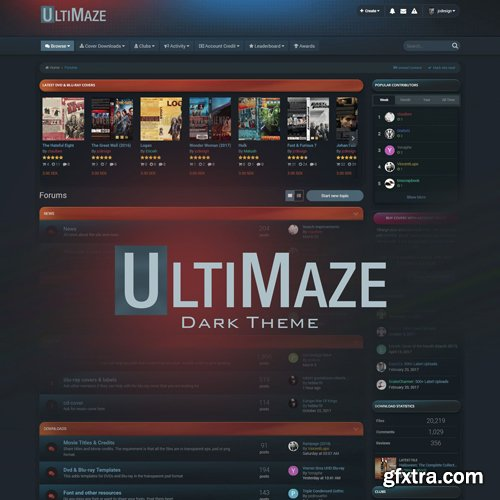 InvisionCommunity - UltiMaze Dark v1.3 - IPS 4.3 Theme