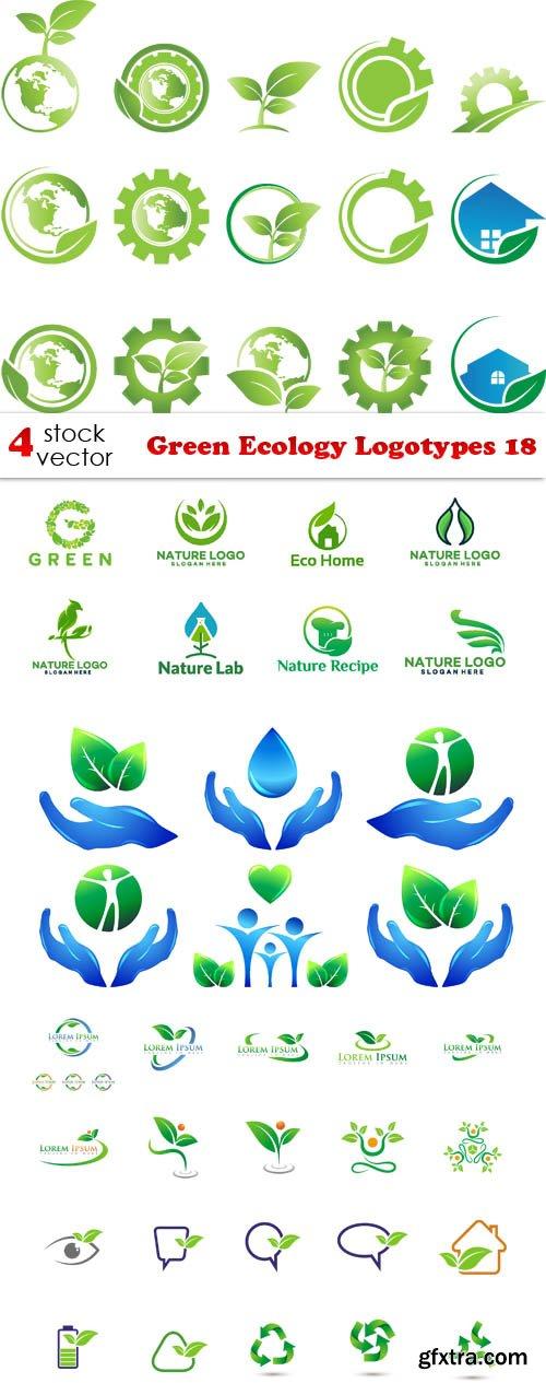 Vectors - Green Ecology Logotypes 18