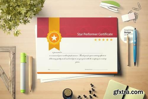 Vintage Gold Star Performer Certificate