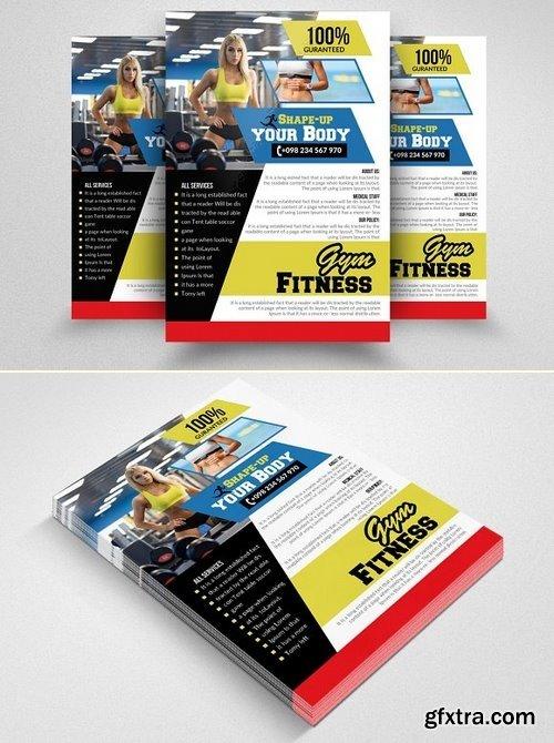 CM - Fitness Gym PSD Flyer Templates 1570188