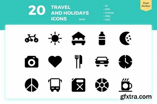 80 Travel and Holiday Icons